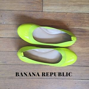 Banana Republic Anna Neon Yellow Ballet Flats Sz 6
